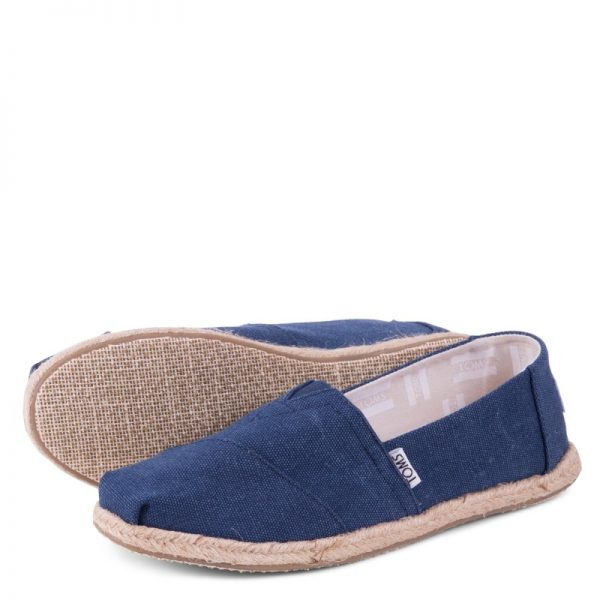toms classic navy washed rope sole 10009758 ss18 6