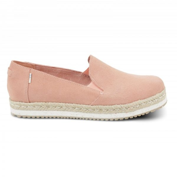 toms palma coral pink suede 10013375