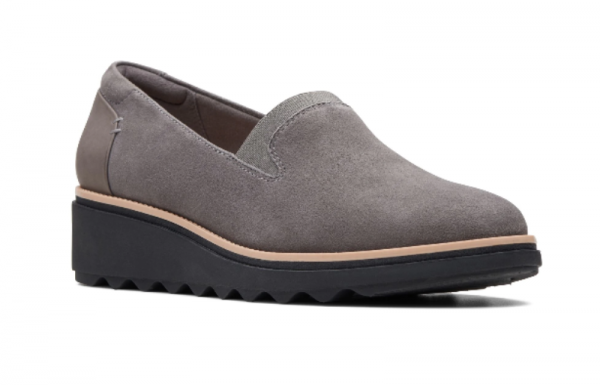 Screenshot 2019 10 10 Sharon Dolly Grey Suede Womens Shoes Clarks® Shoes Official Site Clarks 1