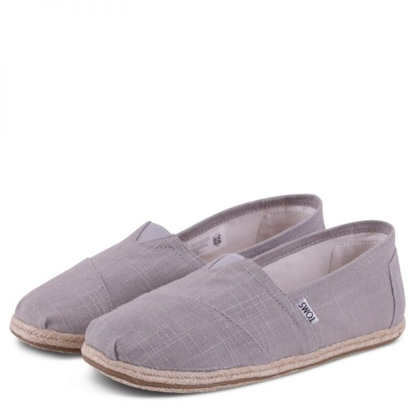 toms classic grey linen rope sole 10008381 2