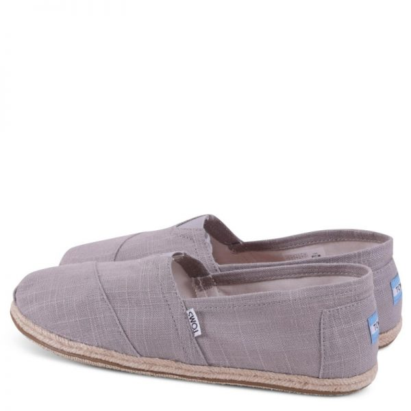 toms classic grey linen rope sole 10008381 3