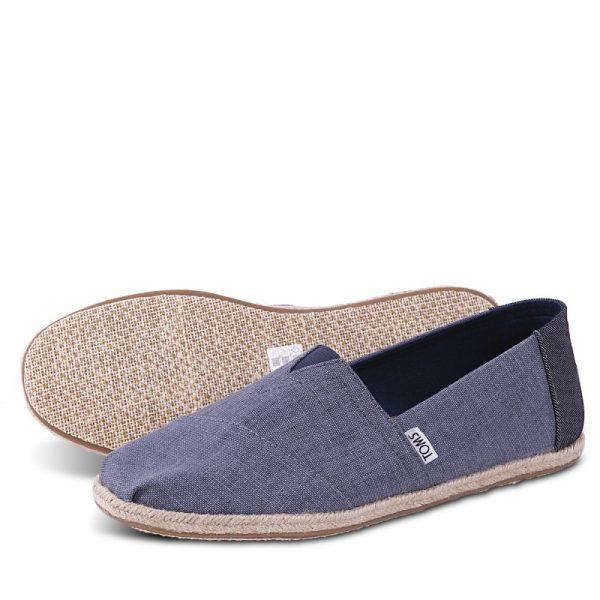 toms shoes classic deep ocean coated linen rope sole 10009899 3
