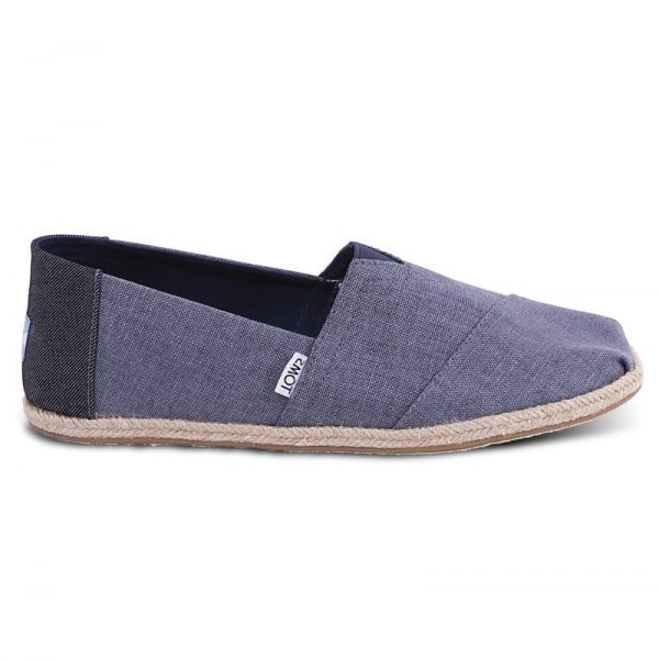 toms shoes classic deep ocean coated linen rope sole 10009899