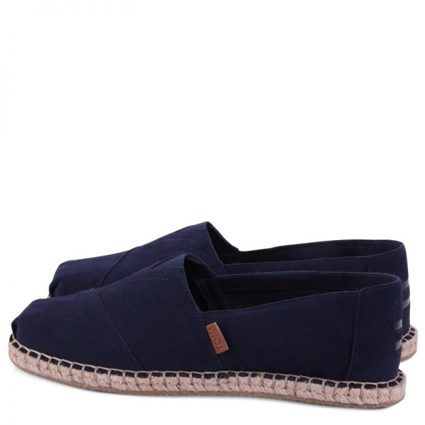 toms shoes classic navy suede blanket stitch 10009964 2