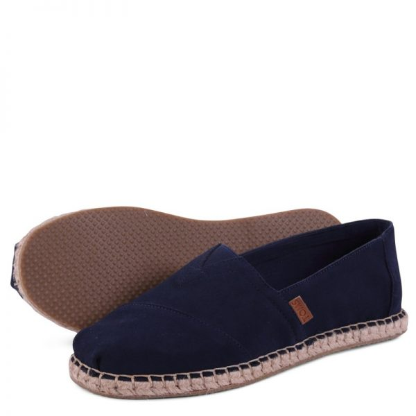 toms shoes classic navy suede blanket stitch 10009964 3